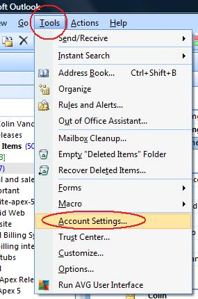 Setting Up Your Email Account in Microsoft Outlook 2003 & 2007